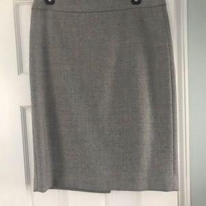 JCrew wool #2pencil skirt